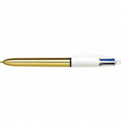 STYLO BILLE BIC 4 COLOURS PTE MOYENNE SHINE OR 964774