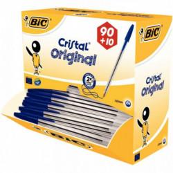 STYLOS BILLE CRISTAL BLEU PACK 90 + 10 BIC 942910