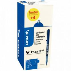 STYLO V BALL VB5 VALUE PACK 16+4 BLEU 3131910519980