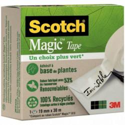 ADHESIF SCOTCH MAGIC VERT RECYCLE 810 19MMx30M L1187