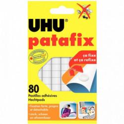 PASTILLES ADHESIVES PATAFIX BLANC bte80 UHU 42620