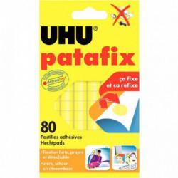 PASTILLES ADHESIVES PATAFIX JAUNE bte80 UHU 50140