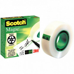 ROULEAU ADHÉSIF SCOTCH MAGIC INVISIBLE 19 MM X 33 M