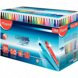 COLOR PEP'S SCHOOLPACK 144 FEUTRES MAPED