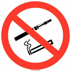 PANNEAU INTERDICTION DE FUMER/VAPOTER