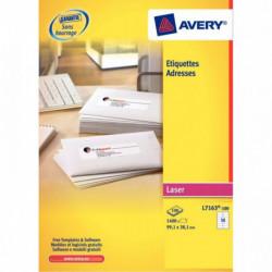 1200 ETIQUETTES LASER FT 63,5 X 72 BLANC AVERY L7164-100