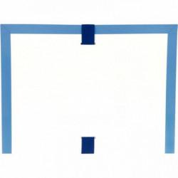 POCHETTE ARCHIVES À SOUFFLET EN PVC BLEU  FORMAT 26X35 CM