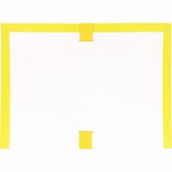POCHETTE ARCHIVES À SOUFFLET EN PVC JAUNE FORMAT 26X35 CM