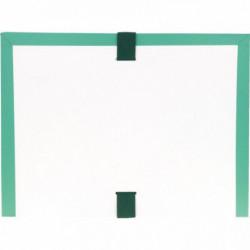 POCHETTE ARCHIVES À SOUFFLET EN PVC VERT  FORMAT 26X35 CM