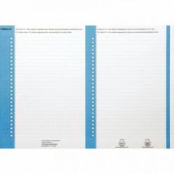 SACHET 10 PLANCHES ETIQUETTES ARMOIRES REVERSIBLES BLEU  N°8 OBLIQUE 100330202