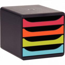 MODULE BIG BOX 4 TIROIRS NOIR/NOIR/ARLEQUIN 310498D