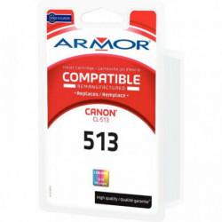 CL513 CART. 3 COULEURS P/CANON HTE CAP IP1900/MP240/260/480 500P 15ML ARMOR