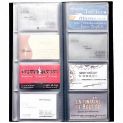 PROTEGE DOCUMENT CARTES VISITE 80 CARTES ALBA 12x27.5 CLASS80