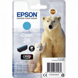 C13T26124010 CART EPSON 'OURS POLAIRE' CLARIA CYAN EPSON 300 PAGES