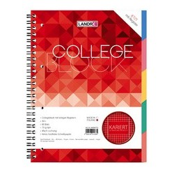CAHIER SPIRALE 80g PERFOREE A4+ couv.carte rigide 5x5 160 pages