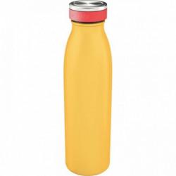 BOUTEILLE ISOTHERME 500ML JAUNE SANS BPA OK LAVE VAISSELLE