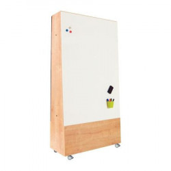 SUPPORT TABLEAU BLANC MOBILE MULTIFONCTION NATURAL
