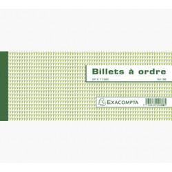 BILLET A ORDRE EN CARNET A SOUCHE 50 FEUILLETS 10.1x21CM