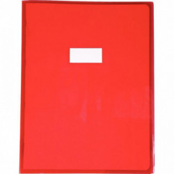 PROTÈGE-CAHIER CRISTAL 24 X 32 CM 22/100 ROUGE