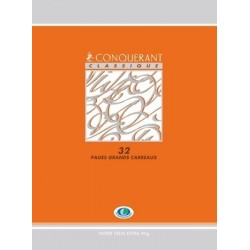 CAHIER PIQURE 17x22 90G 32 PAGES SEYES 2,5MM