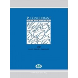 CAHIER PIQURE 17x22 90G 32 PAGES SEYES 4MM