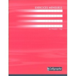 CAHIER PIQURE EXERCICES MENSUELS 17x22 70G 64 PAGES SEYES