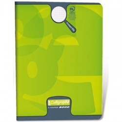CAHIER PIQURE VERNIS 17x22 90G 48 PAGES SEYES PEFC
