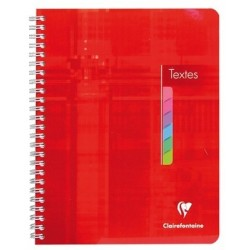 CAHIER DE TEXTES RELIURE INTEGRALE CLAIREFONTAINE 17x22 90G 144 PAGES SEYES