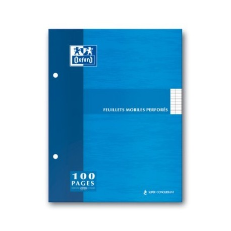 FEUILLET MOBILE BLC PERF. 2 TROUS 17x22 90G 200 PAGES SEYES