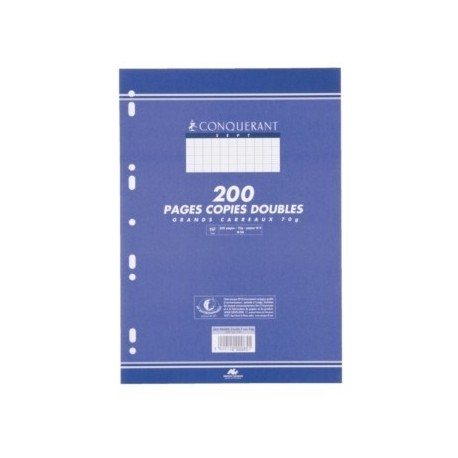 COPIES DBLES PERF. 2 UNIVERS. 21x29,7 70G 120 PAGES 5x5