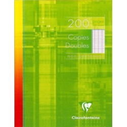 COPIES DBLES CLAIREFONTAINE NON PERF. 17x22 90G 200 PAGES SEYES PEFC