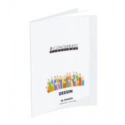 CAHIER PIQURE POLYPRO DESSIN 24x32 48 PAGES UNIES 120 G