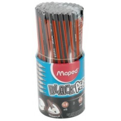 POT 72 CRAYONS GRAPHITE BLACK PEPS