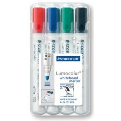 STAEDTLER BOX 4 LUMOCOLOR WHITEBOARD MARKER 351 ASSORTIS