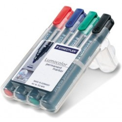 STAEDTLER BOX 4 LUMOCOLOR PERMANENT MARKER 352 ASSORTIS