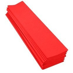 PAP.CREPON 2x0,5M ROUGE 32G 40% 10 FEUIL.