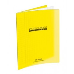 CAHIER POLYPRO JAUNE 17x22 90G 48 PAGES SEYES