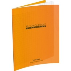 CAHIER POLYPRO ORANGE 17x22 90G 48 PAGES SEYES