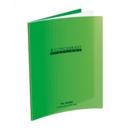 CAHIER POLYPRO VERT 17x22 90G 96 PAGES SEYES