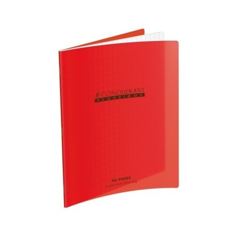 CAHIER POLYPRO ROUGE 21x29,7 90G 96 PAGES SEYES