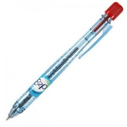 STYLO BILLE RETRACTABLE B2P BE GREEN MOYEN ROUGE