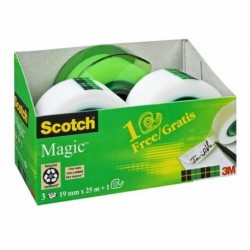 ADHESIF PACK 3 RLX MAGIC 810 + 1 DEVIDOIR ESCARGOT OFFERT