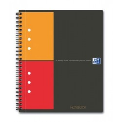 CAHIER NOTEBOOK A5+ 80G 5x5 SPIRALE OXFORD