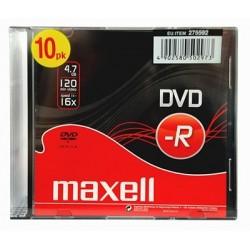 DVDR 16x 4.7 Boitier 5mm Slim Pack de 10