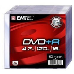 DVD+R 4,7GB 16X Slim (10)