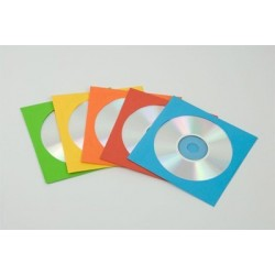 ENVELOPPES CD COULEURS ASSORTIES x50
