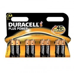 PILE DURACELL PLUS POWER AA LR6 x8