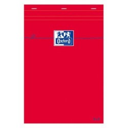 BLOCS OXFORD ROUGE AGR NON PERF 148 x 210 80GR Q55 OXFORD 100106977