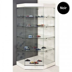 VITRINE DANGLE YED SOCLE NOIR PLAFOND VERRE PORTES COULISSANTES 180 x 82 x 82 cm