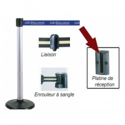 PLATINE MURALE DE RECEPTION POUR POTEAU GUIDEFILE A SANGLE 17605